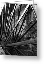 The Old Mill-black And White Greeting Card