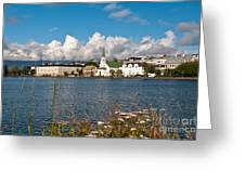 The Pond In Reykjavik. Greeting Card