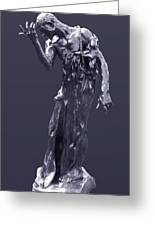 The Sculpture Of Auguste Rodin Greeting Card