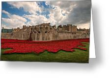 Tower Of London Remembers.  Greeting Card