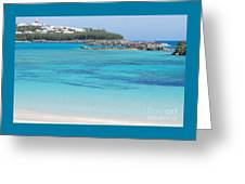 A Vision Of Turtle Bay, Bermuda Greeting Card