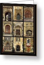 Uk Doors Greeting Card by Christo Christov