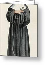 Ursuline Nun Devoted To Saint Ursula Greeting Card