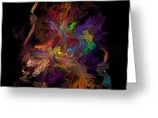 Veils Of Many Colors Greeting Card