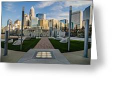 View Of Charlotte Skyline Greeting Card
