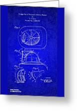 Vintage 1932 Firemans Helmet Patent Greeting Card
