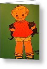 Vintage Kewpie Doll Greeting Card