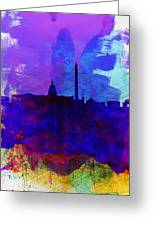 Washington Dc Watercolor Skyline 2 Greeting Card