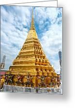Wat Phra Kaeo Temple - Bangkok Greeting Card