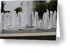 Water Fountains Greeting Card