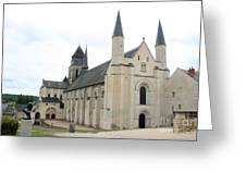 West Facade Of The Church - Fontevraud Abbey Greeting Card