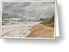 Whitby, Yorkshire A Deserted Beach Greeting Card