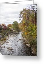 White Laural Creek- Mid-town Damascus Greeting Card