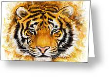 Wild Tiger Greeting Card
