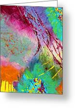Modern Abstract Diptych Part 1 Greeting Card