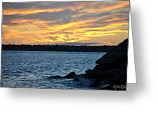 001 Awe In One Sunset Series At Erie Basin Marina Greeting Card