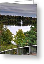 001 Hoyt Lake Autumn 2013 Greeting Card