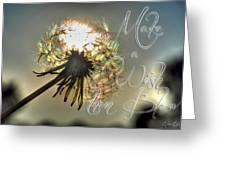 001 Make A Wish At Sunset With Text Greeting Card