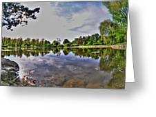 001 Reflecting At Forest Lawn Greeting Card
