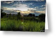 001 Setting Sun At Deyowenoguhdoh  Greeting Card