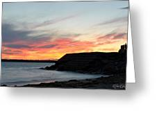 0010 Awe In One Sunset Series At Erie Basin Marina Greeting Card