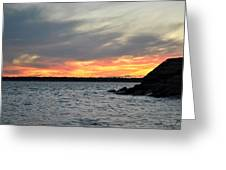 0011 Awe In One Sunset Series At Erie Basin Marina Greeting Card