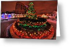 0011 Christmas Light Show At Roswell Series Greeting Card