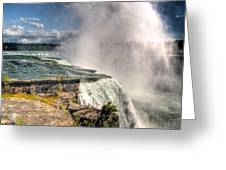 0011 Niagara Falls Misty Blue Series Greeting Card