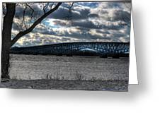 0013 Grand Island Bridge Series Greeting Card