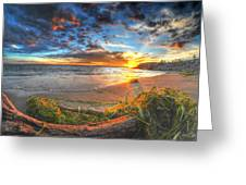 0014 Awe In One Sunset Series At Erie Basin Marina Greeting Card