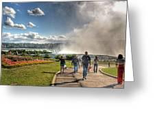 0014 Niagara Falls Misty Blue Series Greeting Card