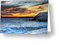 0015 Awe In One Sunset Series At Erie Basin Marina Greeting Card