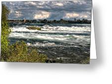 0015 Niagara Falls Misty Blue Series Greeting Card