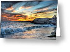 0016 Awe In One Sunset Series At Erie Basin Marina Greeting Card