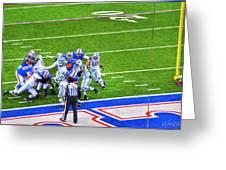 0016  Buffalo Bills Vs Jets 30dec12 Greeting Card