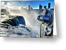 0016 Niagara Falls Winter Wonderland Series Greeting Card