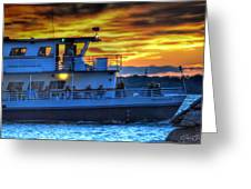 0017 Awe In One Sunset Series At Erie Basin Marina Greeting Card