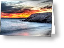 0018 Awe In One Sunset Series At Erie Basin Marina Greeting Card