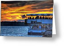 0019 Awe In One Sunset Series At Erie Basin Marina Greeting Card