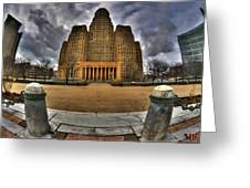 0019 City Hall From Within The Square Greeting Card