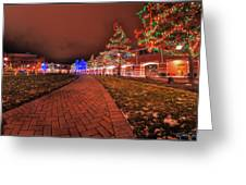 002 Christmas Light Show At Roswell Series Greeting Card