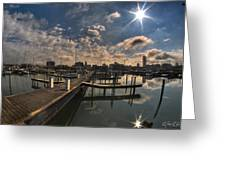 002 Erie Basin Marina D Dock Greeting Card