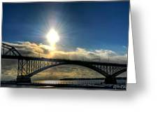 002 Peace Bridge In Passing  Greeting Card
