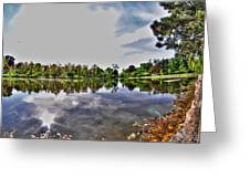 002 Reflecting At Forest Lawn Greeting Card