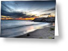 0020 Awe In One Sunset Series At Erie Basin Marina Greeting Card