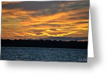 003 Awe In One Sunset Series At Erie Basin Marina Greeting Card