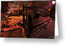 003 Christmas Light Show At Roswell Series Greeting Card
