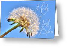 003 Make A Wish With Text Greeting Card
