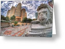 003 Sleeping Lions City Hall View  Greeting Card