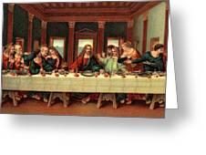 0030s The Last Supper After Leonardo Da Greeting Card